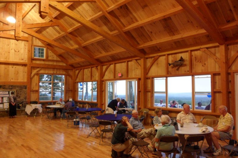 Rainy days just got better at William Lawrence camp in New Hampshire. We built them an enclosed pavillion.
