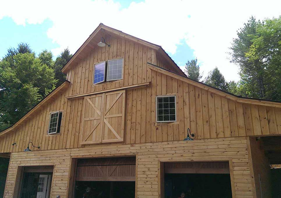 Designing a barn is rewarding when we accomodate several uses for the building.