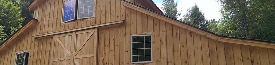 This custom designed barn is multipurpose and has cleristory windows.