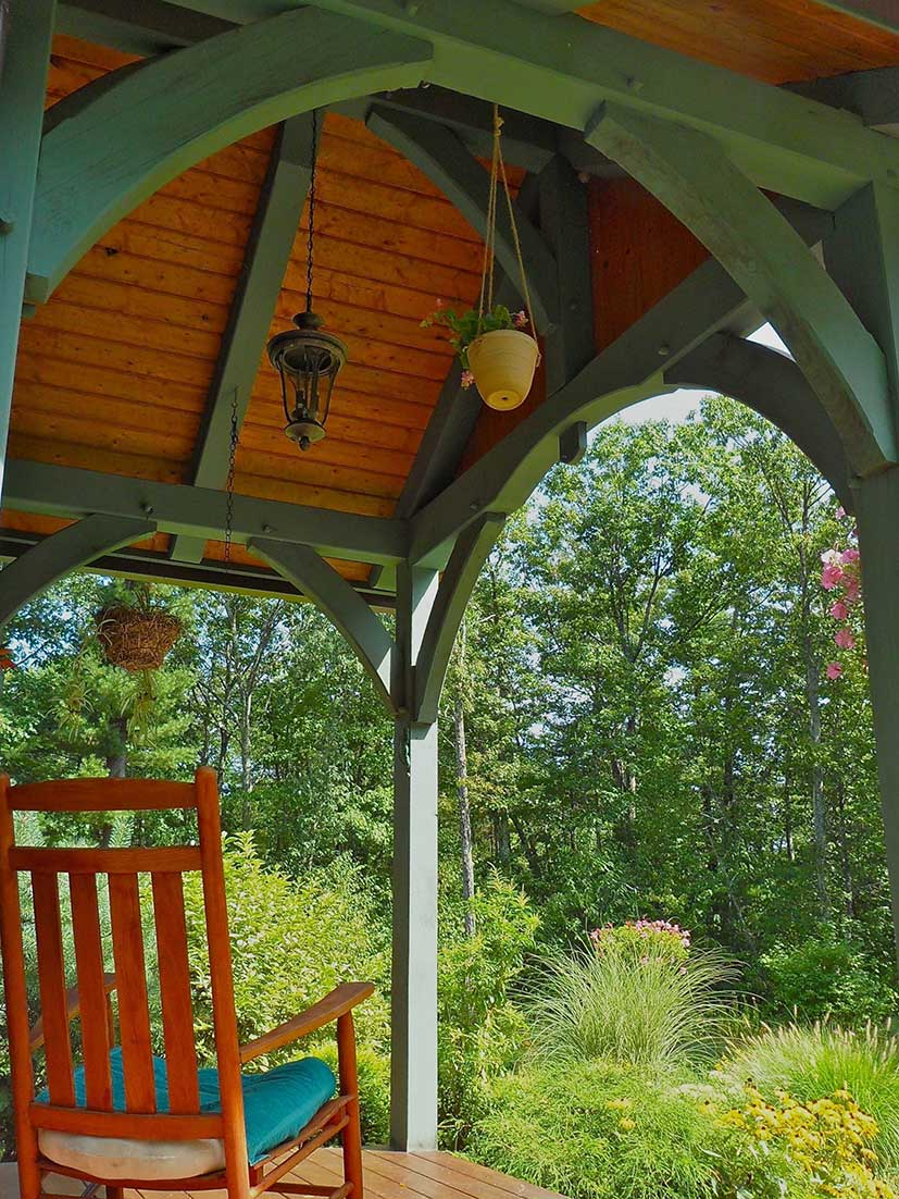 The timber frame porch for Timber frame porch addition