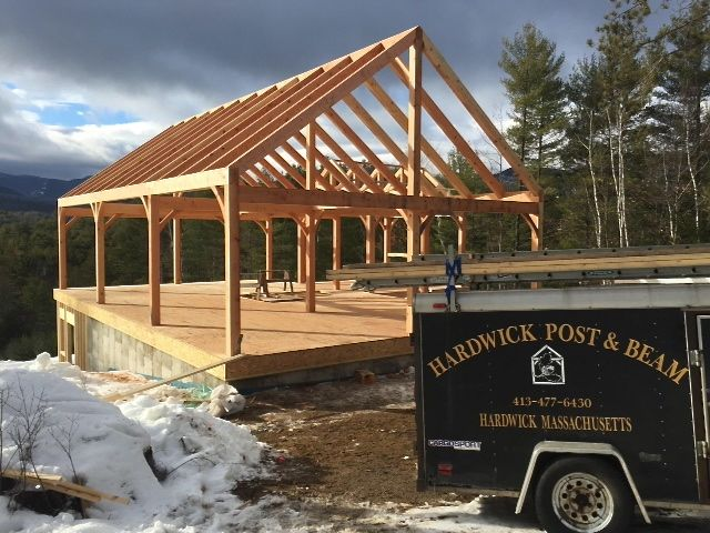 Each Hardwick Post & Beam frame is unique for each client.