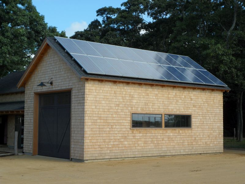 Solar panels along and energy efficient Structural Insulated Panels are elements of Net buildings.