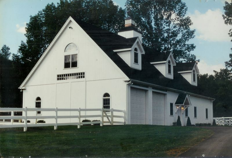 Horse stable with dormers