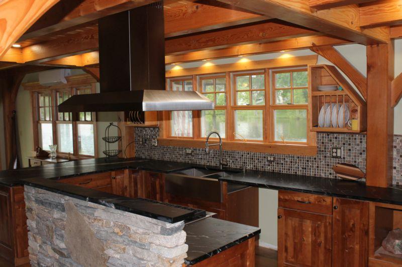 Lake cottage kitchen