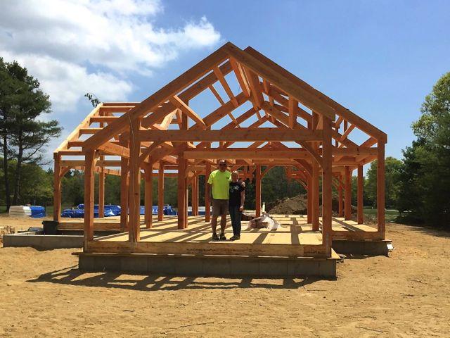 Moore douglas fir timber frame