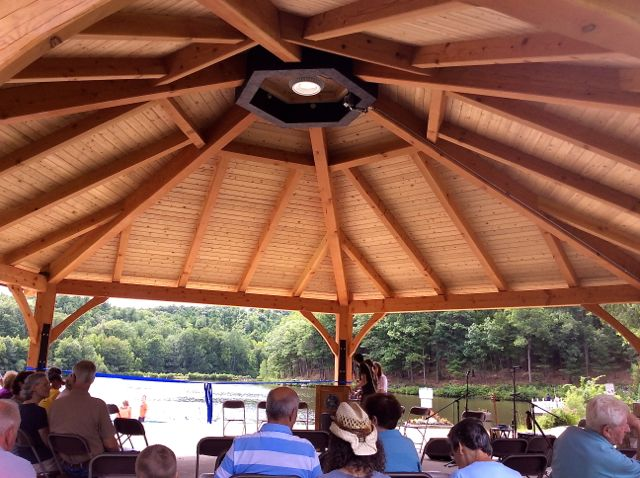 leominster large pavilion interior at ceremony