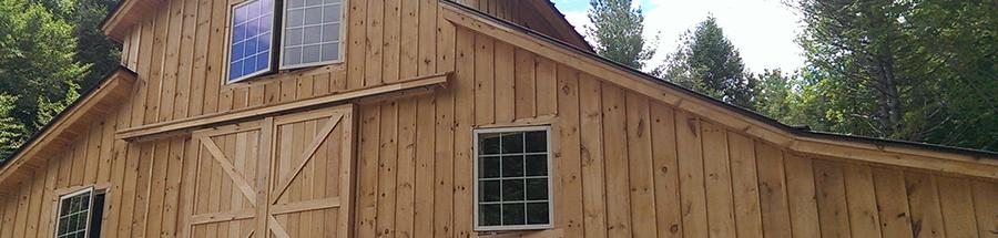 This custom designed barn is multipurpose and has cleristory windows.