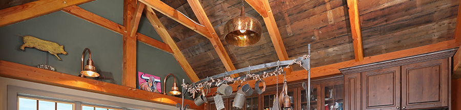 The photos of houses in this section show that timber frames enhance any decor.