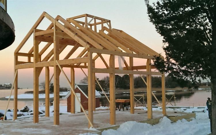 Cohasset custom Timber Frame Cabin