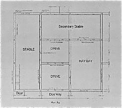 Custom english 18th century barn floor plan