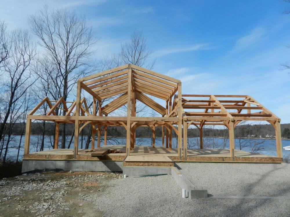 Mosher Lake Timber Frame Custom Home