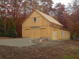 Speare barn custom timber frame