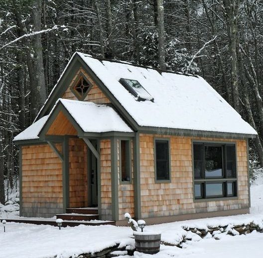 Thoreau wood cabin home exterior