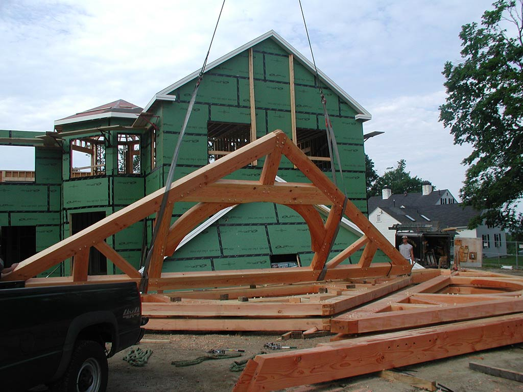 Raising trusses with arches