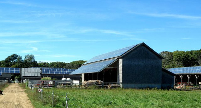 solar panels energy efficient farms