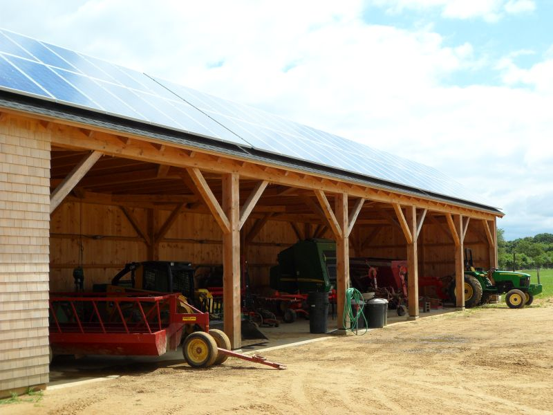 Public spaces for Pole barn equipment shed