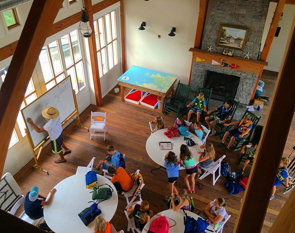 The timber frame creates a memorable learning space for the kids.