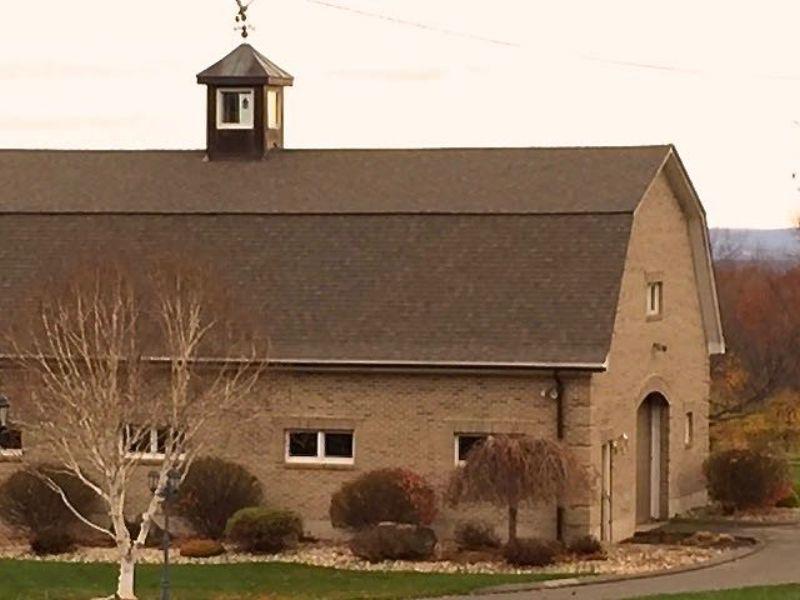 Gambrel, brick barn