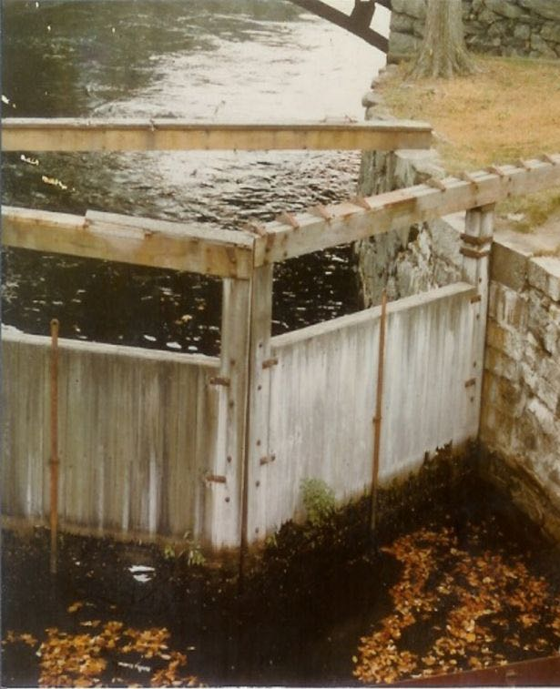 The old lock gates at Lowell National Park needed to be replaced.
