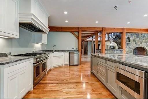 Sleek and spacious kitchen