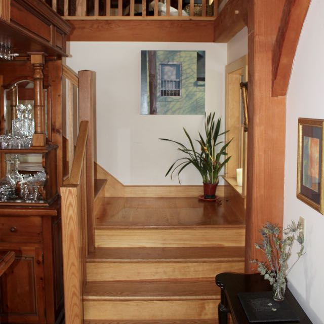 Midpoint landing stairs