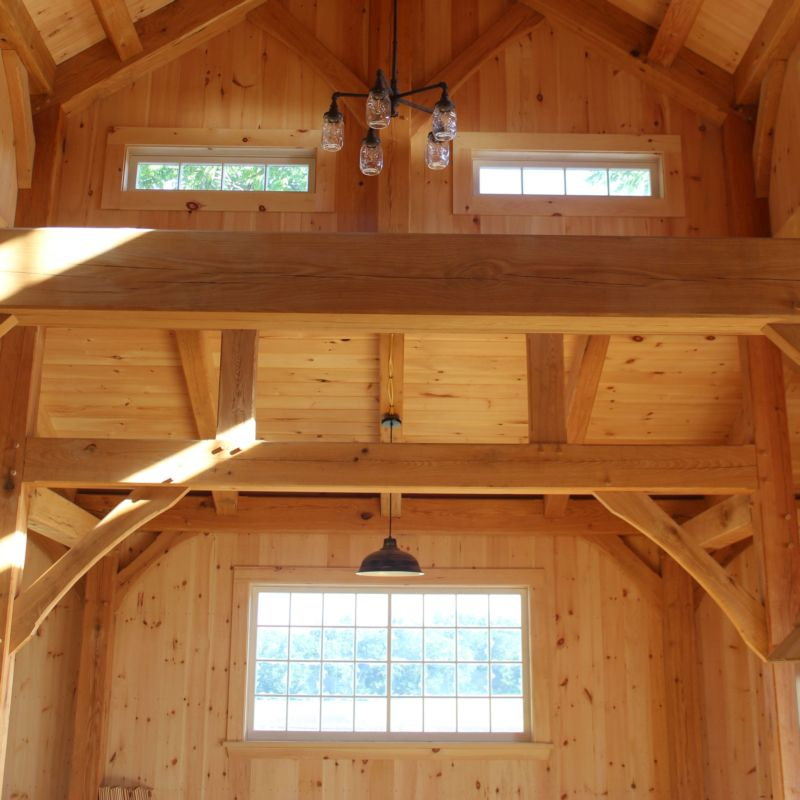 Timber frame interior