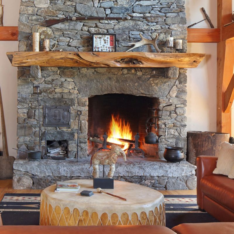 Country Western fireplace