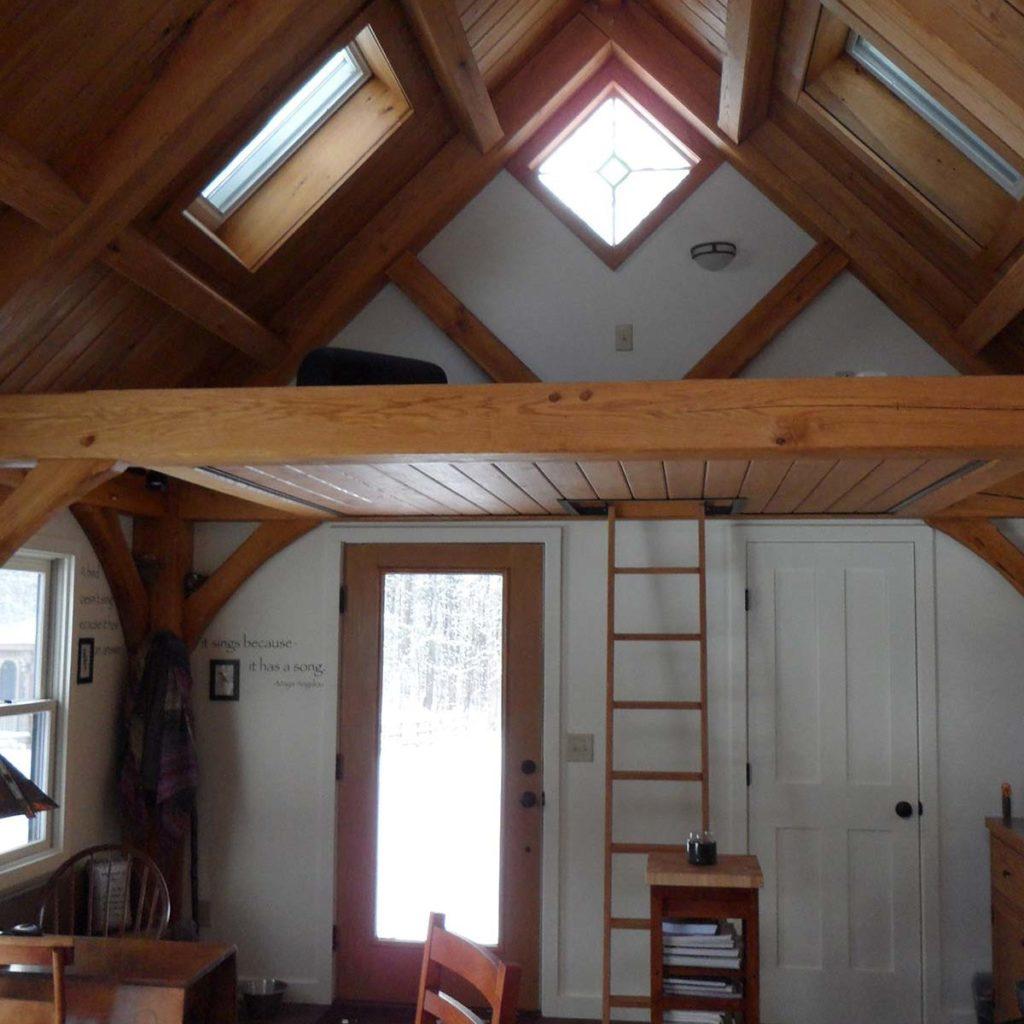 Timber frame studio loft