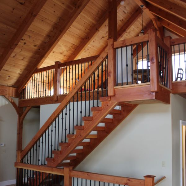Timber frame stairs and loft