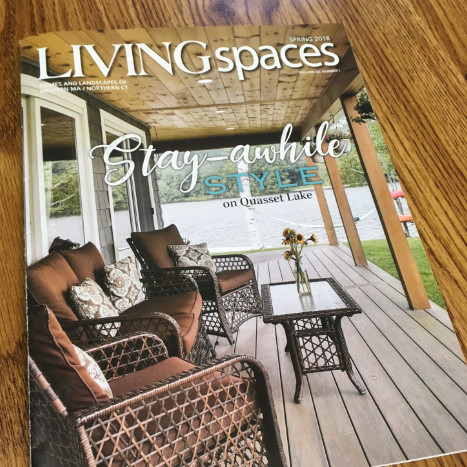 Hardwick Post and Beam Living Spaces Magazine Cover