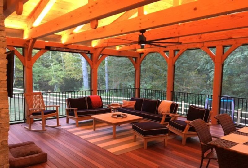 Timber Frame Four Season Porch