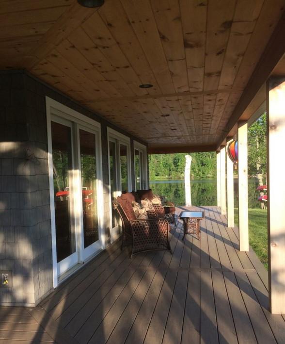 Lake view porch