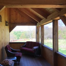 Timber Frame Barn Porch