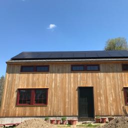 Timber Frame Barn With Solar